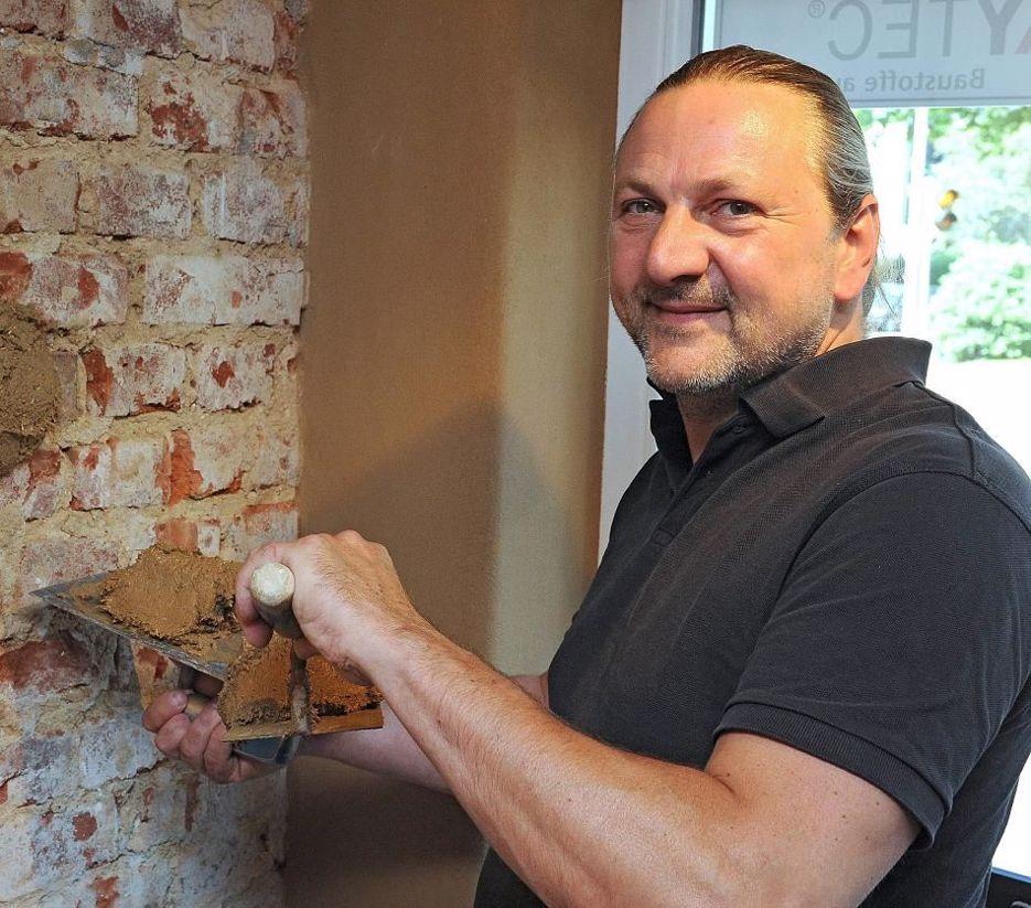 Reboco de argila na reabilitação urbana