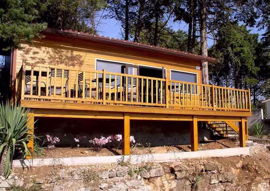 Pintar casas de madeira