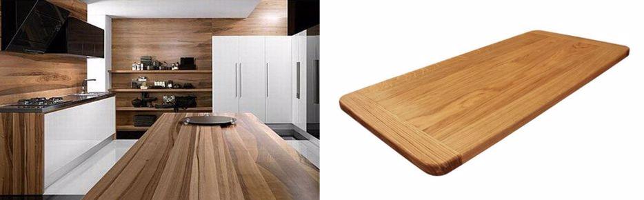 Manutenção de tábuas e bancadas de cozinha em madeira